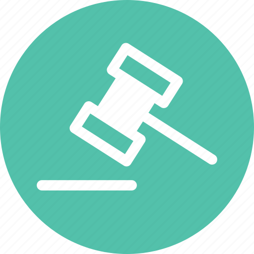 attorney, hammer, justice, law, lawyer icon