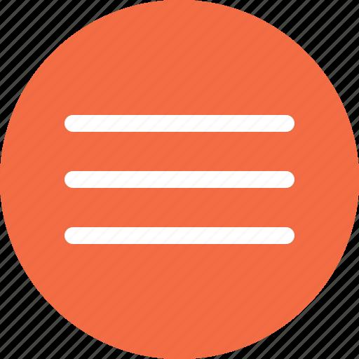 bars, list, menu, settings icon