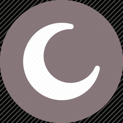 crescent, moon, night, phase icon
