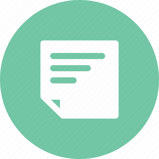file, note, paper, quick note icon