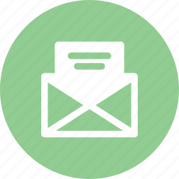 email, inbox, letter, message, read icon