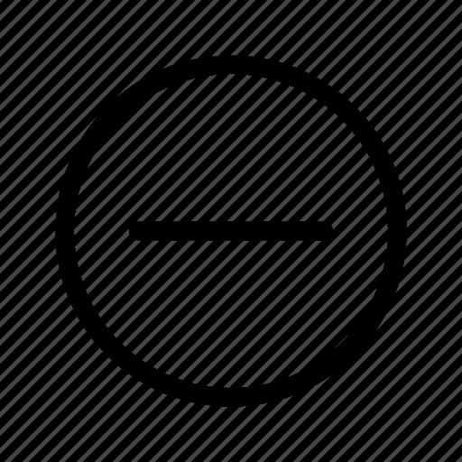 cancel, delete, minus, negative, remove, subtract, take away icon