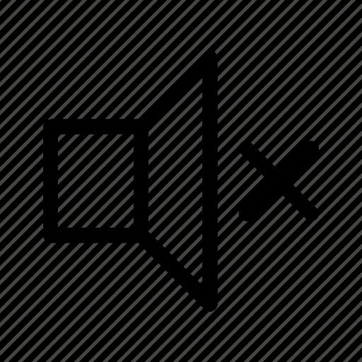 audio, music, mute, no volume, noise, sound icon