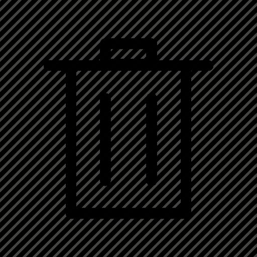 bin, can, delete, garbage, remove, trash, waste icon