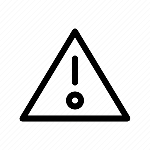alert, attention, danger, error, message, stop, warning icon