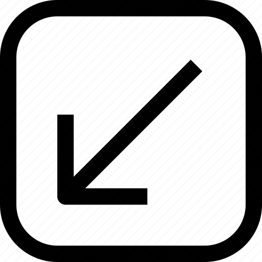 app, arrow, down, essential, ui, ux, web icon