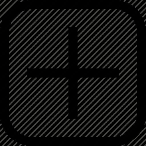add, app, essential, ui, ux, web icon