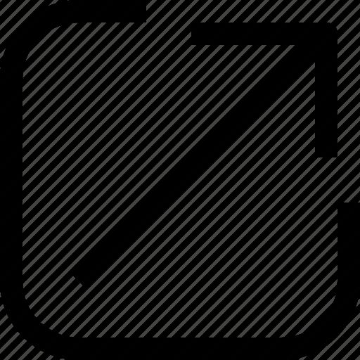 app, arrow, essential, ui, up, ux, web icon