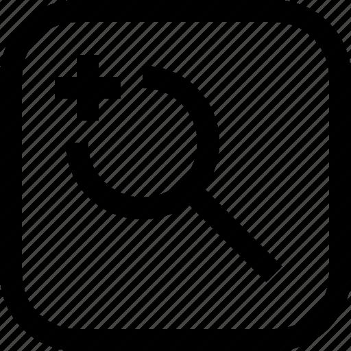 app, essential, in, ui, ux, web, zoom icon