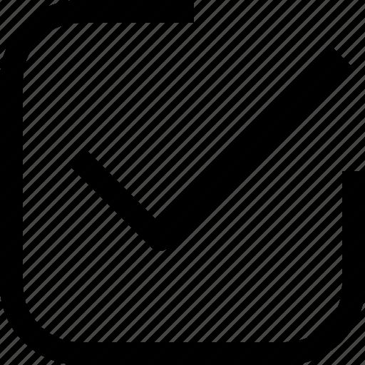 app, check, essential, ui, ux, web icon