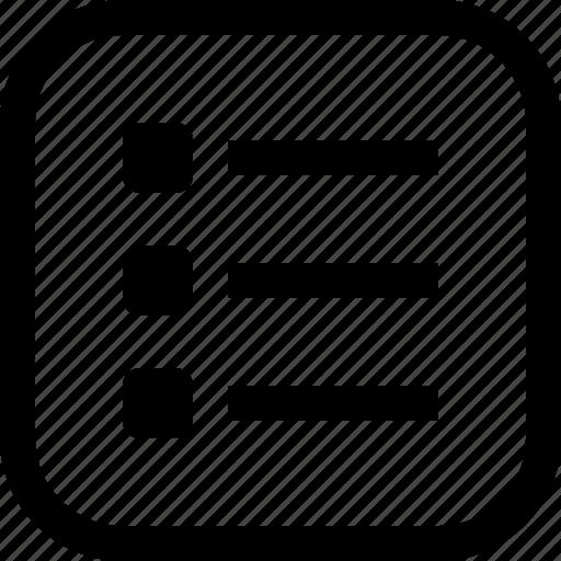 app, essential, list, ui, ux, web icon