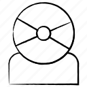 avatar, camera, communication icon