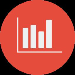 chart, goal, graph, sales icon