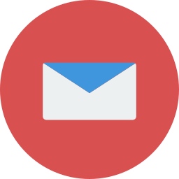 envelope, letter, mail, office, red icon