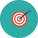 arrow, goal, sales, target icon