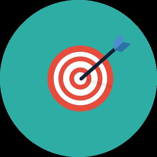arrow, goal, sales, target icon