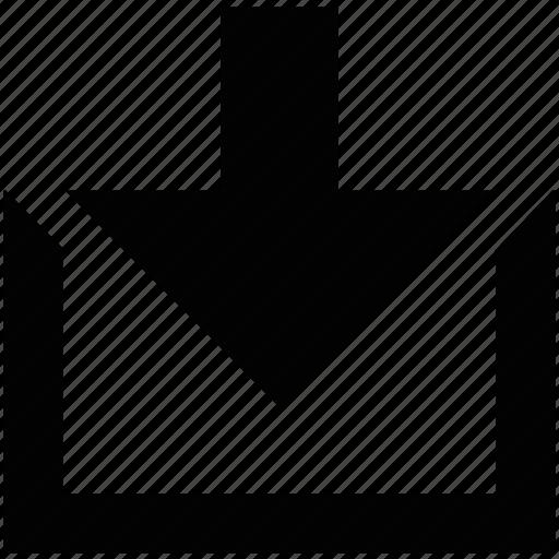 Arrow, down, download, file, save, arrows, guardar icon - Download on Iconfinder