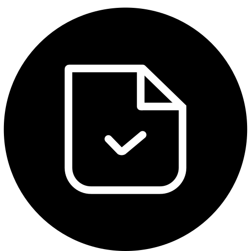 check, checked, document, done, file, marked icon