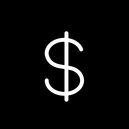 dollar, dollars, money, sign, win icon