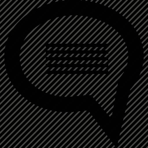 advice, bubble, chat, comment, communication, message icon