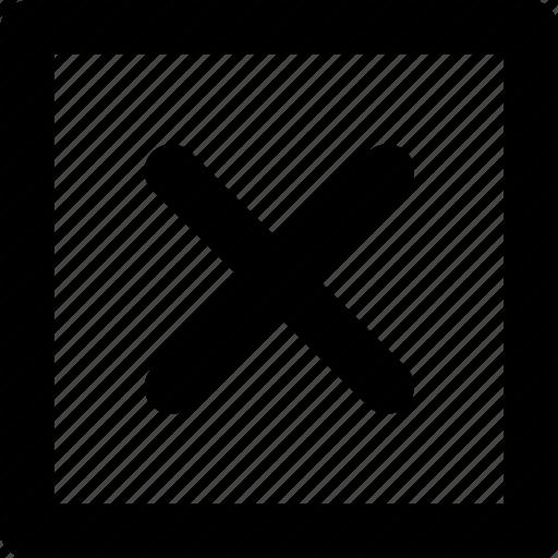 cancel, close, cross, delete, exit, no, remove, stop, x icon