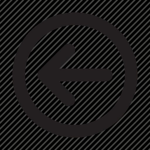 arrow, basic, circle, essential, interface, left, ui icon