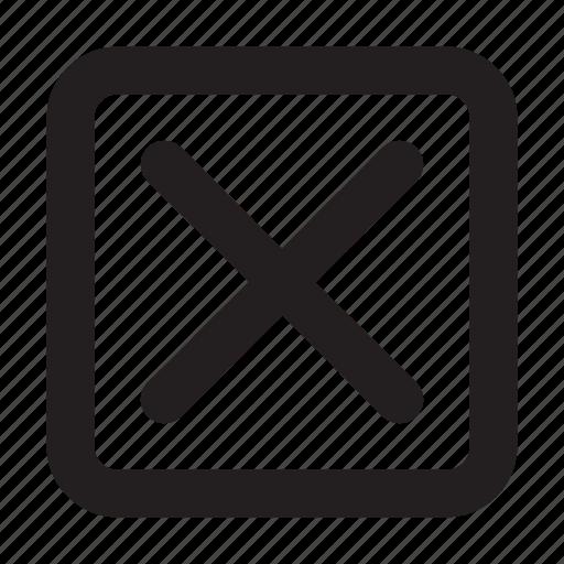 basic, close, essential, interface, square, ui icon
