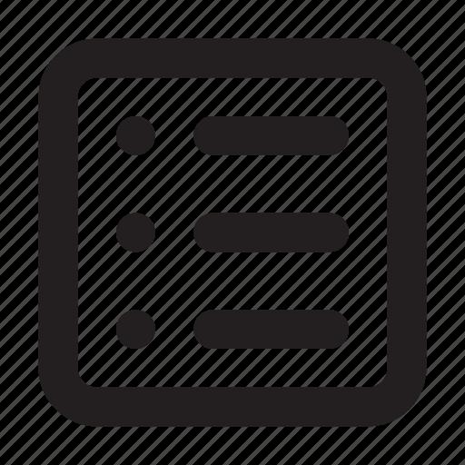 basic, essential, interface, list, ui, view icon
