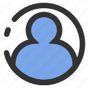 account, essential, people, profile, user icon