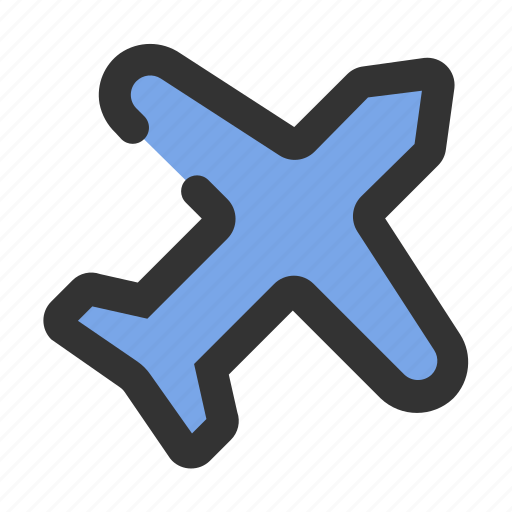 connection, essential, mode, network, plane icon