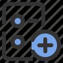 add, essential, file, new, paper icon