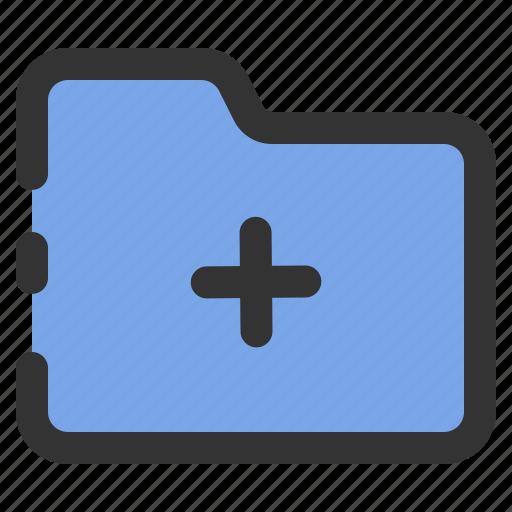 add, bundle, essential, file, folder icon