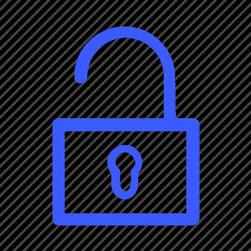 app, interface, internet, menu, unlock, user, web icon