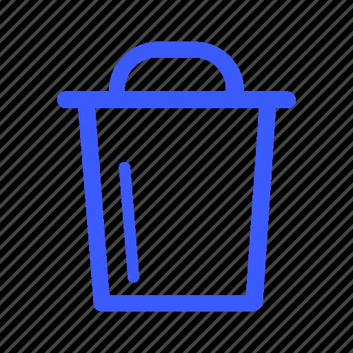 app, interface, internet, menu, trash, user, web icon