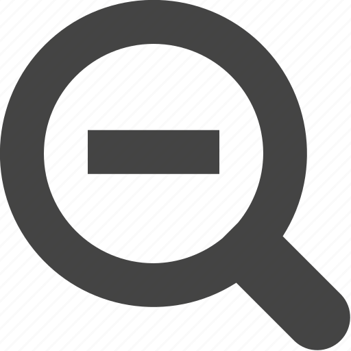 magnifier, out, search, zoom icon