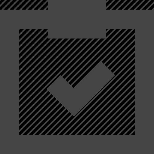 check, clipboard, note, report, tick, verify icon