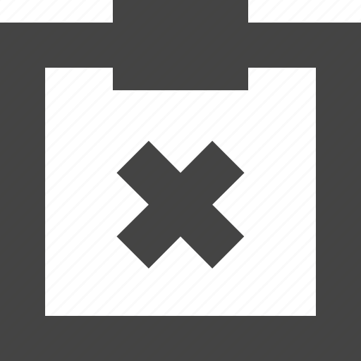 clipboard, delete, note, report icon