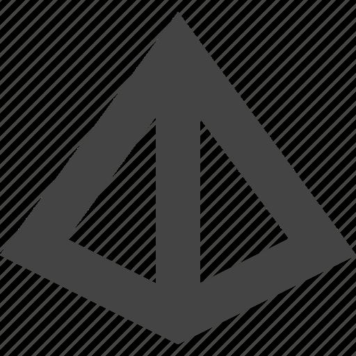 pynamid, shape, triangle icon