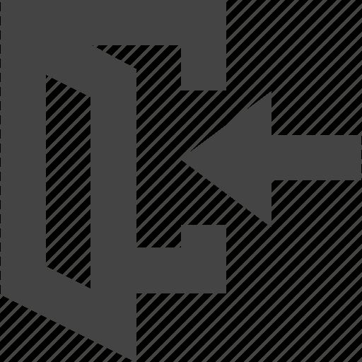 door, in, login, sign, user icon