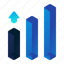 analytics, bar, chart, cubes, graph, statistics icon