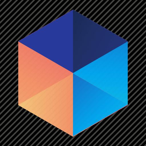 cubes, dimensional, dimensions, graph icon
