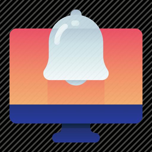 Alert, bell, computer, desktop, monitor, notification icon - Download on Iconfinder