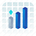 analytics, chart, cubes, graph, statistics icon