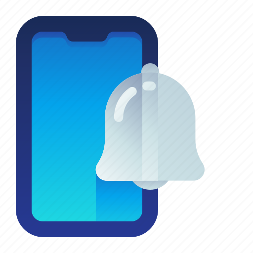 alert, bell, mobile, notification, phone, smartphone icon
