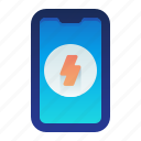 charge, mobile, phone, smartphone, speed icon