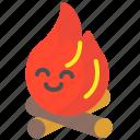 campfire, fire, holidays, picnic, trip icon