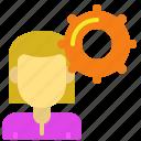 female, girl, option, profile, settings, user