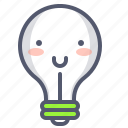 bulb, emoji, happy, light, lightbulb, smile