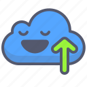 arrow, box, cloud, give, up, upload icon