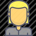 female, girl, profile, user